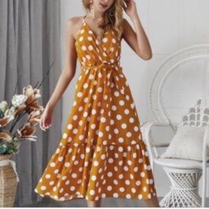 BRAND NEW! 5 STAR! Polka dot wrap style maxi dress